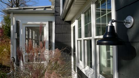 modern farmhouse exterior lighting outdoor gooseneck lighting for a modern ny