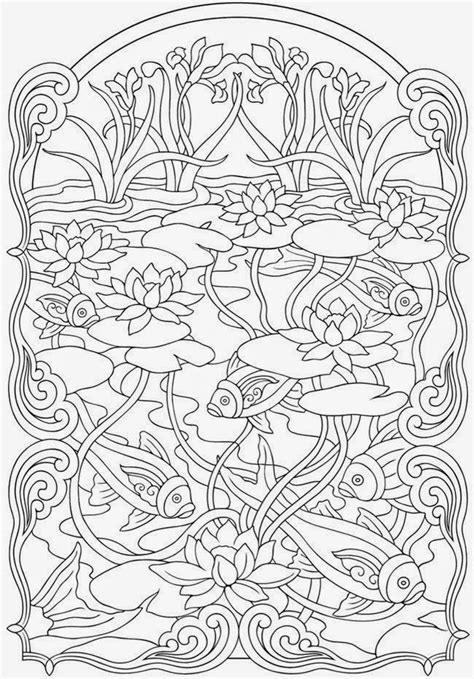 printable coloring pages for adults fish koi fish coloring pages anti stress coloring for adult