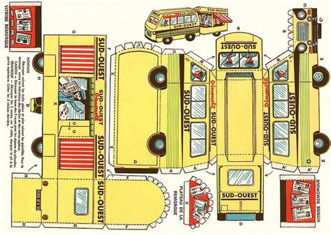 paper toys paper cut out models free at papertoys cut out diy paper model bus cut out pinterest