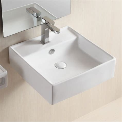 square sink bathroom wall mounted square bathroom sink by caracalla modern