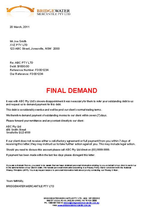 Demand Letter Debt Sle Demand Fast Effective Debt Recovery