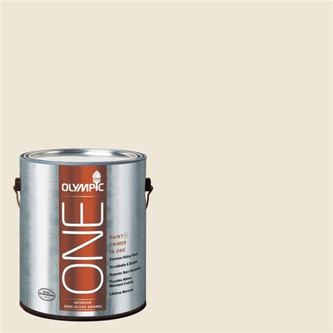 shop olympic one gallon size container interior semi gloss pre tinted milk paint base