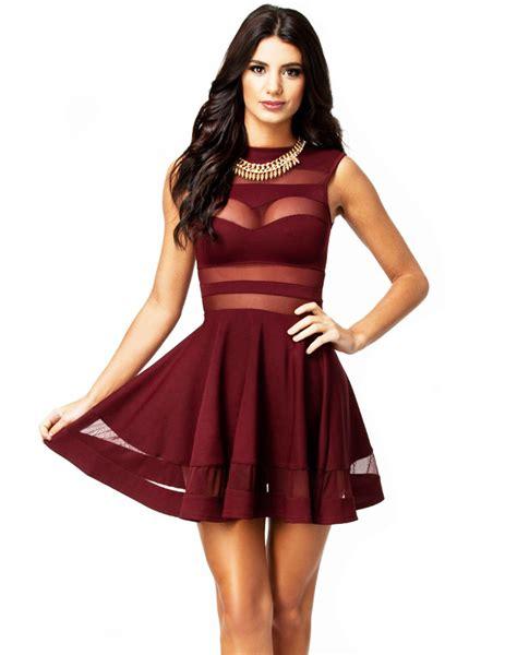 Dress Bergaris black mesh panel clubwear dress