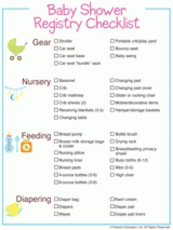 Things Needed For A Baby Shower by Baby Shower Free Printables Familyeducation