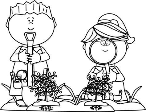 kid clipart black and white black and white looking for bugs clip black and