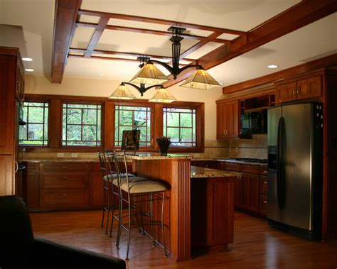 prairie style ranch remodel kitchen craftsman kitchen