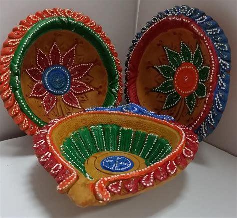 large clay diyas fancy handmade clay diwali diya