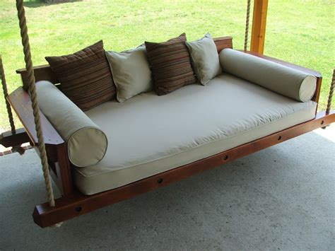 custom rustic porch bed swing by carolina porch swings custommade com
