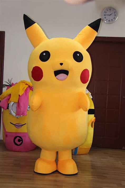 Pikachu Mascot 5 pikachu mascot costume fluffy plush costume by