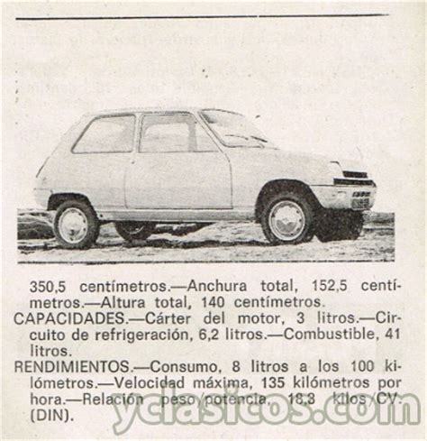 renault 5 tl ficha t 233 cnica de 233 poca 1972 portal compra
