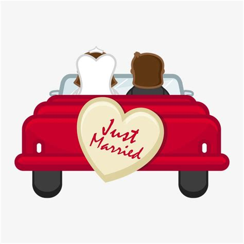 wedding car clipart wedding car character png image and clipart for