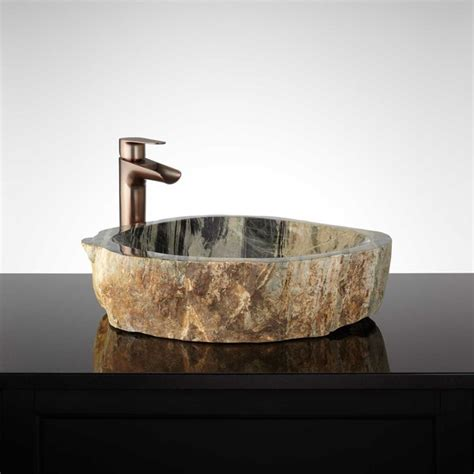 stone vessel bathroom sink ballivian natural stone vessel sink traditional