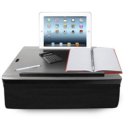 portable desk with storage icozy portable cushion desk with storage black