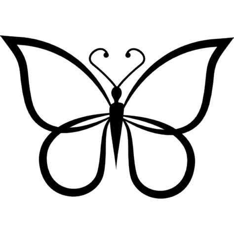 Butterfly Shape Outline Top View Icons Free Download Outline Pictures
