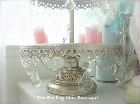 shabby crystal prisms garlands chic silver 3 tier