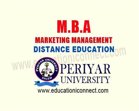 Mba Marketing In Uae by Mba In Marketing Management Distance Education 2017 18 Fee