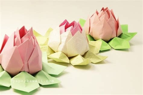 How To Make A Lotus Flower Out Of Paper - modular origami lotus flower tutorial 183 how to fold an