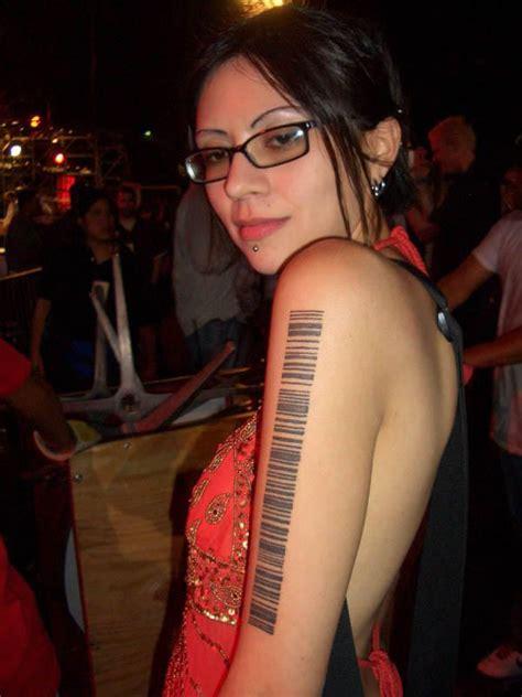 barcode tattoo fiction barcode tattoo3d tattoos