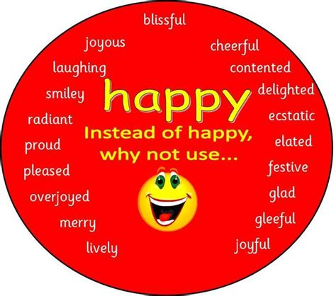 other words for red happy different ways to say happy