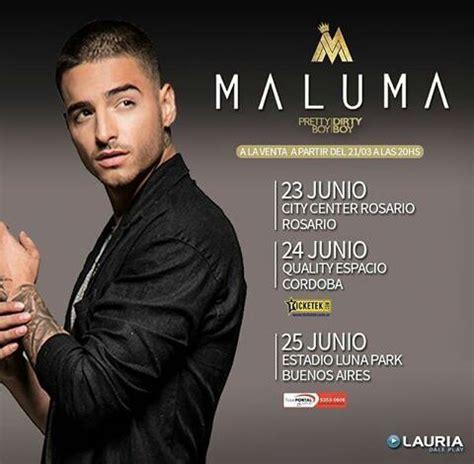 entrada para maluma argentina 2016 concierto de maluma en c 243 rdoba argentina 23 de junio de