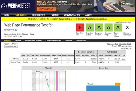 web page test top 13 free tools for testing your website s speed