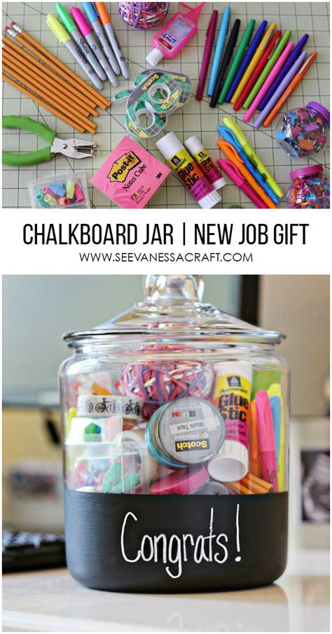 craft new job gift in a chalkboard jar see vanessa craft