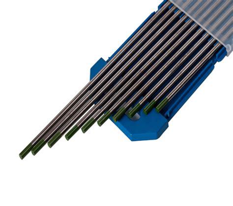 lade tungsteno electrodo tungsteno verde puro diam 1 6 mm