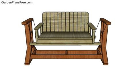 glider bench plans glider swing stand plans free garden plans how to