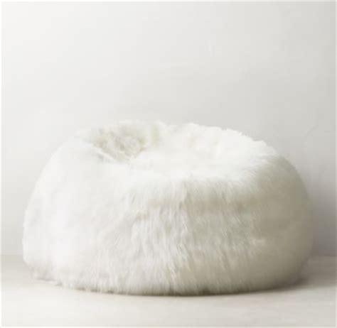 fluffy white fur bean bag chair kashmir faux fur bean bag white