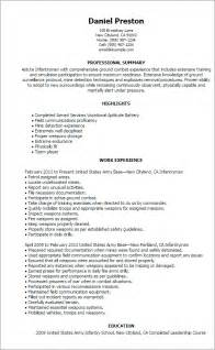Air Ambulance Sle Resume by Professional Infantryman Templates To Showcase Your Talent Myperfectresume