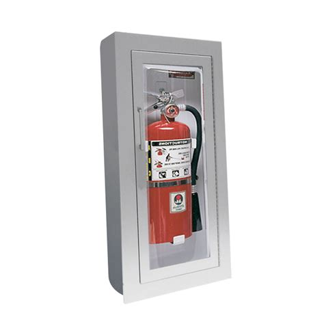 Jl Clear Vu 1527f25 Semi Recess Mounted Aluminum 10 Lbs Jl Industries Extinguisher Cabinets
