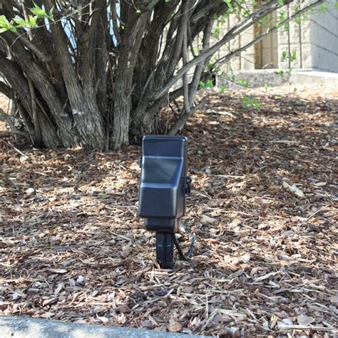 outdoor power stake and dvr zone shield