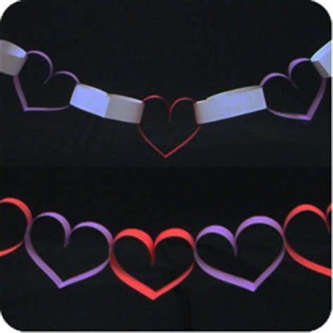How To Make Paper Chain Hearts - paper chain hearts make origami