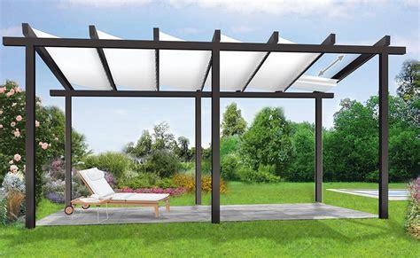 metall pavillon befestigen sonnenschutz mit einer pergola