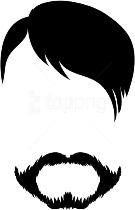 Transparent Hipster Mustache Png - Men Hair Clip Art