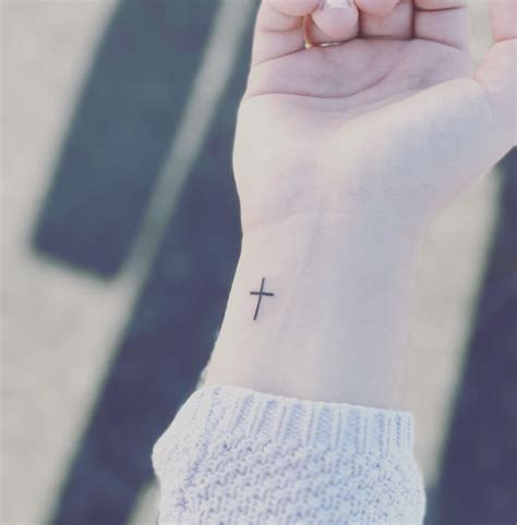 ideas  cross tattoo wrist  pinterest girl cross tattoos cross  wrist