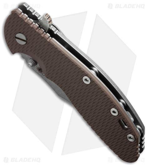 hinderer knife hinderer knives xm 24 bowie flipper knife fde 4