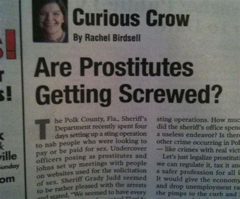 10 Silly Newspaper Headlines by Newspaper Headlines That Were Unintentionally