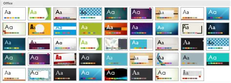powerpoint 2010 built in themes using document themes in powerpoint 2016