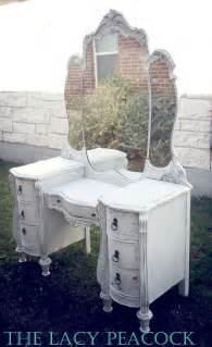 White Vintage Vanity Table Custom Order For White Antique Vanity Dressing