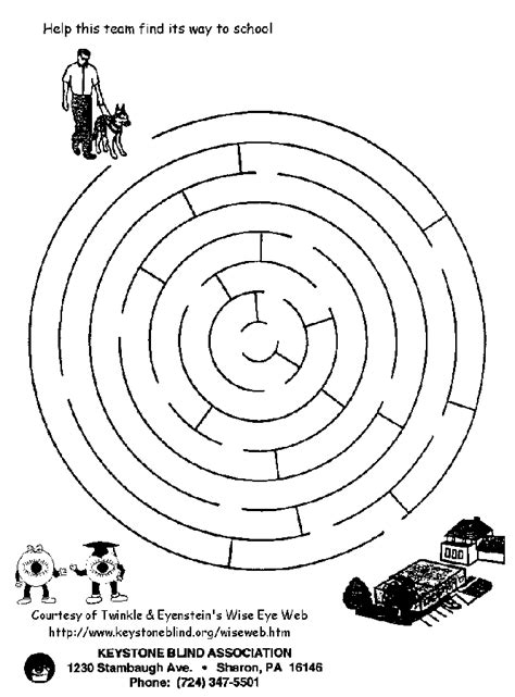 coloring pages of guide dogs maze coloring page coloring home
