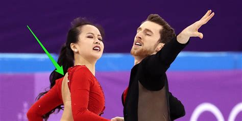 olympics wardrobe failure south korean figure skater suffered a wardrobe malfunction