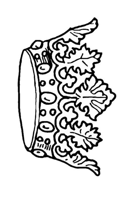 coloring page of a crown for a king coloring page king s crown img 9068
