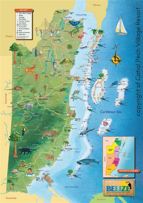 mayan ruins map belize map map of belize