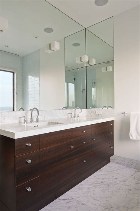 bathroom mirror ideas fill   wall contemporist