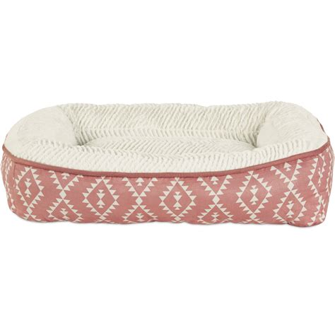 petco dog bed harmony pink aztec print lounger memory foam dog bed petco