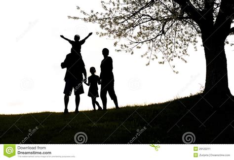happy family happy family silhouette stock image image 29122211