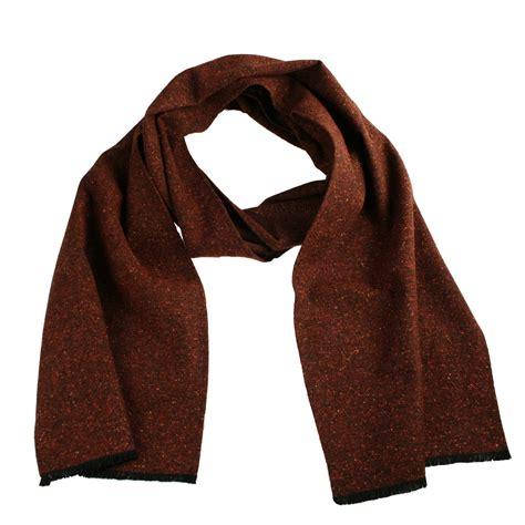 brown pattern scarf rust brown donegal mix tweed wool scarf elegant extras