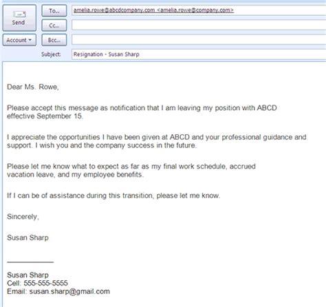 Resignation letter 004