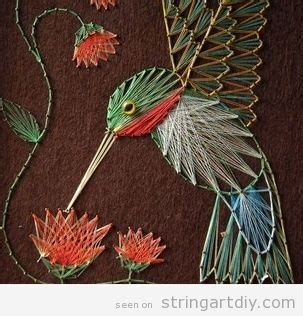 Flower String Patterns - a bird placed on a flower a beautiful string string
